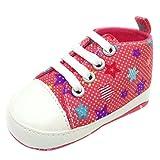 FNKDOR Schuhe Babyschuhe Jungen, Weiche Sohle Kleinkind Krabbelschuhe Lauflernschuhe 0-18 Monate (06-12 Monate, Rot)