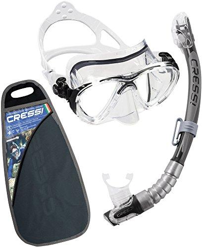 Cressi Unisex Tauchset Snorkeling Combos Big Eyes Evolution und Kappa Ultra Dry Elite, schwarz, one size, DS337050