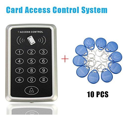 GuDoQi® Rfid Nähe Card Access Control Tür Zugang Einlasskontrolle Schloss 10 Schlüsselanhänger 1 Proximity Card