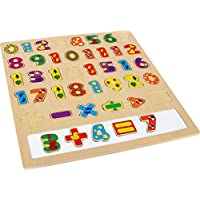 Zahlen Holz Rechen-Puzzel ab 3 Jahre
