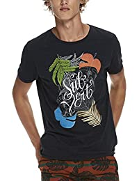 Scotch & Soda Tee In Lightweight Jersey Quality with Big Chest Artwork, Camiseta para Hombre