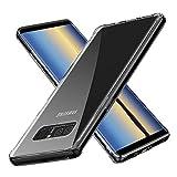 FMPC Coque Samsung Galaxy Note 8, Transparente avec Revêtement Arrière en Verre...