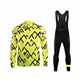 Uglyfrog #02 Radsport Anzüge Herren Frühling Langarm-Radsport-Trikot+Lange Lätzchen Dicht with Gel Pad Breathable Classic Bicycle Set