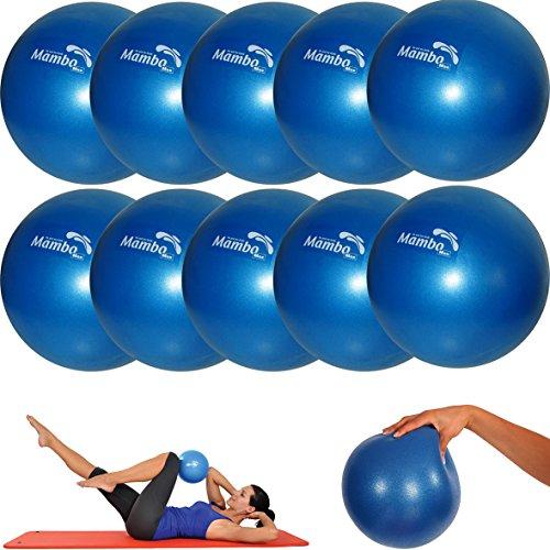 MSD-10piezas-Pelota 26cm Suave + 2tapones + pajita Pilates Gimnasia Yoga Gym Soft over Ball azul