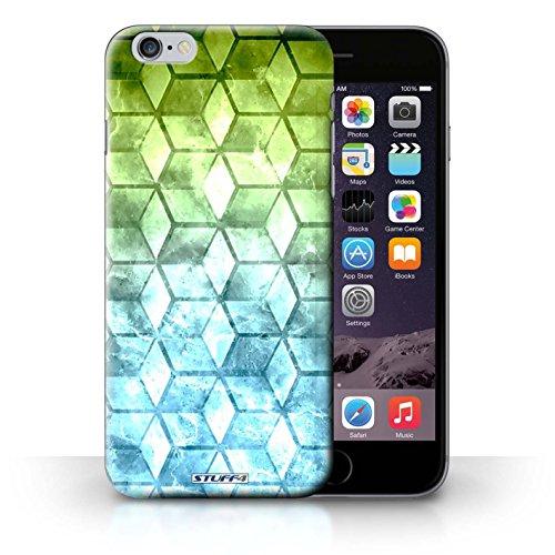 Kobalt® Imprimé Etui / Coque pour iPhone 6+/Plus 5.5 / Jaun/Vert conception / Série Cubes colorés Vert/Bleu