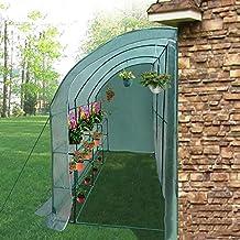 LLDHUAJIA LIANGLIANG Invernadero de jardín Caseta contra la Pared Planta de jardinería Casa de Flores Cobertizo
