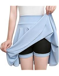 47de9403fea7 Grandes Tailles Jupe Plissée Patineuse Courte Femme Taille Haute d été Jupe  Court ...