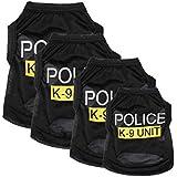 Hunde Kleidung Hundebekleidung Police Vest T-Shirt Hundeshirt Schwarz XS/S/M/L