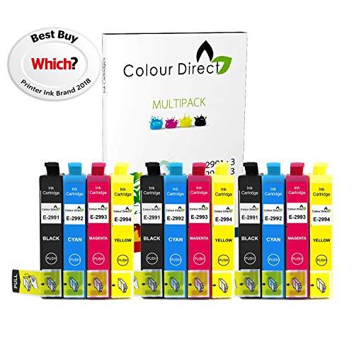 Colour Direct -3 Impostatos Compatibile Cartucce d'inchiostro - 29XL Sostituzione Per Epson Expression Home XP-235 XP-245 XP-247 XP-255 XP-257 XP-332 XP-335 XP-342 XP-345 XP-352 XP-355 XP-432 XP-435 XP-442 XP-445 XP-452 XP-455 Stampanti. 3 X 2991 3 X2992 3 X 2993 3 X 2994