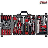 Apollo 71 Piece Household Tool Kit including Most Reached for Hand Tools - in Storage Box