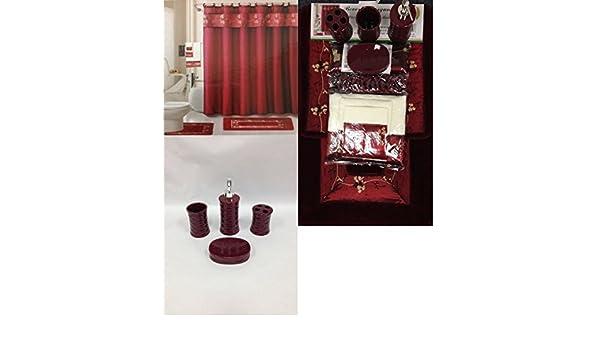 Accessori Bagno Bordeaux : Pc set di accessori da bagno in ceramica mod beverly colore