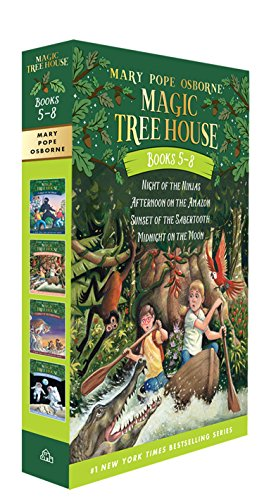 Magic Tree House Books #5-8: Night of the Ninjas/Afternoon on the Amazon/Sunset of the Sabertooth/Midnight on the Moon