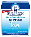 Bullrich Basenpulver Pur, Säure-Basen-Balance, basisches Basenerzeugnis, mit Dosierlöffel, 200 g