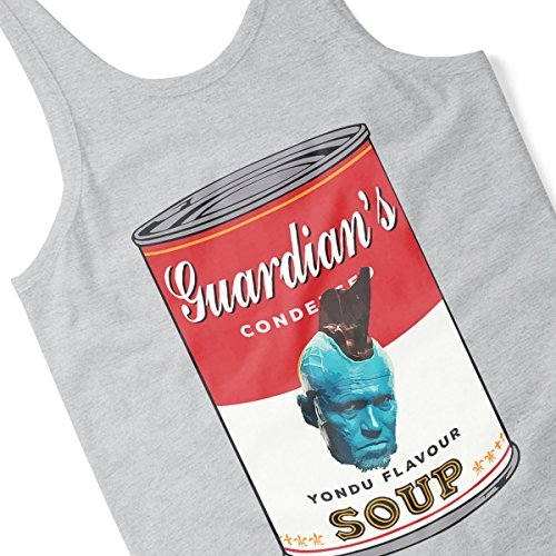 Guardians Of The Galaxy Yondu Soup Warhol Men's Vest Heather Grey