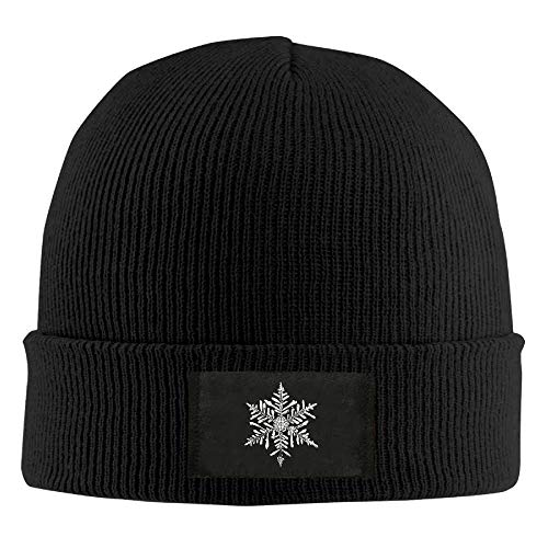 Bikofhd Christmas Snowflake Winter Warm Knit Hats Skull Caps Thick Cuff Beanie Hat for Men and Women New7 -
