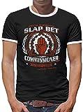 Touchlines Merchandise TLM Slap Bet Kontrast T-Shirt Herren L Schwarz