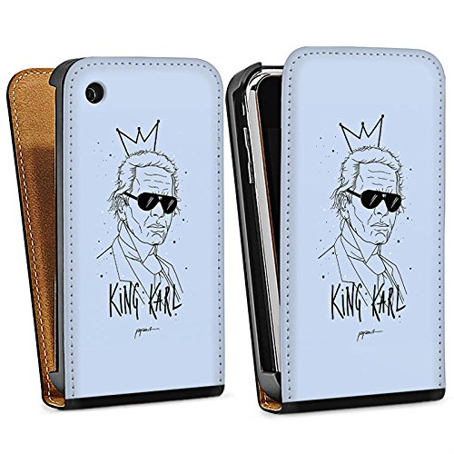 Apple iPhone 6 Housse Outdoor Étui militaire Coque Karl Lagerfeld Mode Dessin Sac Downflip noir