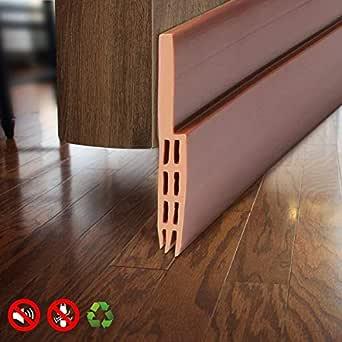 METRENO Air Gap Waterproof Gel Self-Adhesive Rubber Window/Door Shield Weather-Strip Tape for Cockroach Insect Bugs Stopper (1 m, Brown)