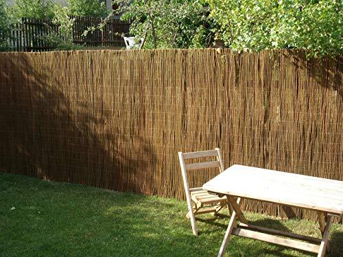 Nature LOUNGE Weidenmatte 150 x 300 cm - Hochwertiger Weiden Sichtschutz Zaun - Weidenzaun Matte für Haus, Garten und Balkon