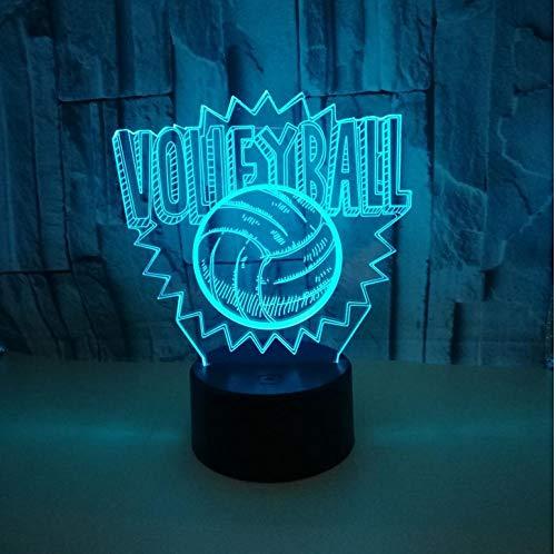 Volleyball 3D Lichter 7 Farbe Touch Led Nachtlicht Sieben Farbe Dimmen 3D Leuchten Usb Led Kinder Lampe Fernbedienung -