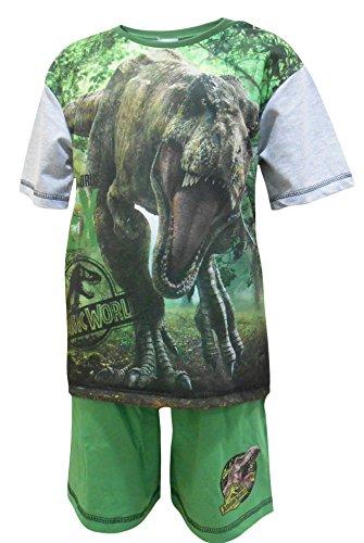 Jurassic World Jungen Schlafanzug Offiziell T-Rex Dinosaurier kurze Pyjama Größen von 4 bis 10 Jahren - Mehrfarbig, 7-8 YEARS (Jungen Pyjama-böden)