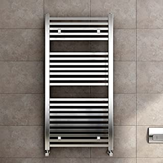 1200 x 600 Premium Square Bar Heated Towel Rail Chrome Bathroom Radiator RS1200600