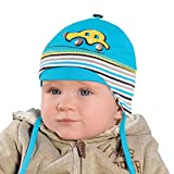 Sommermütze Junge Baby 2-6 Monate , 40-42 cm kopfumfang (B - Grau)