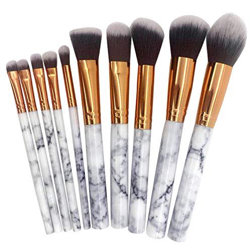 Schminkpinsel,Pinselset Makeup,10 STÜCKE Mode Erröten Kontur Augenbraue Schatten Make-Up Make-Up...