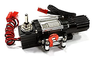 Integy RC Model Hop-ups C25488BLACK Billet Machined T6 Realistic High Torque Mega Winch (Toy) for Scale Rock Crawler 1/10 from Integy