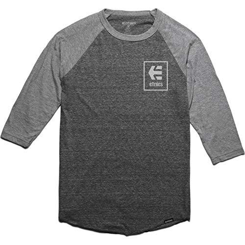 Grau-stack (Etnies Raglan T-Shirt Stack Box Grau Heather (X-Large, Grau))