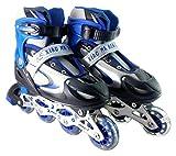 Elan SK-S-001 High Quality Inline Skates, Junior Small Set of 2 (Blue)