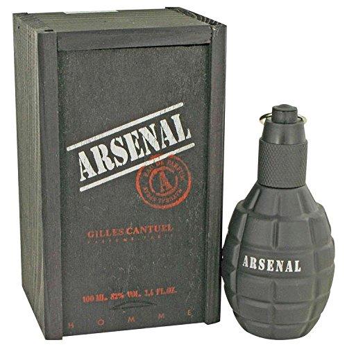 Gilles Cantuel Arsenal Eau de Parfum Spray para Hombre, Black Cantuel, 3.4 Ounce