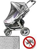 HOMETOOLS.EU® - Moskito-Netz, Mücken-Netz für Kinderwagen | Schutz vor Insekten, Mücken, Moskitos, Bienen, Wespen | universell passend für Sportwagen