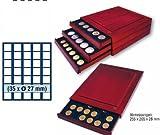 SAFE 6827 ECHTHOLZ MÜNZBOX NOVA EXQUISITE 35 x 27 mm ECKIGE FÄCHER - IDEAL FÜR 2 EURO / DM / ZLOTY & US PRESIDENTIAL DOLLARS & FÜR MÜNZEN BIS 27 mm & IN MÜNZKAPSELN BIS CAPS 21,5 - MÜNZBOXEN - MÜNZELEMENTE