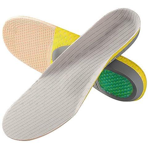 SOUMIT Sport Einlegesohlen - Volle Länge Orthopädische PVC Schuheinlagen, Optimale Dämpfung für Wandern, Arbeiten und Alltag (S EU35-40, Länge: 26,2cm)
