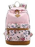Moollyfox Damen Herren Vintage Canvas Rucksack Schulrucksack Reisetasche Casual Daypacks für Outdoor Camping Picknick Außflug Sports Universität Rucksack Schultasche
