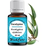 WishCare Eucalyptus Essential Oil 60 ML -100% Pure, Undiluted & Natural Therapeutic Grade - For Aromatherapy & Massage Over Skin, Muscle & Joints