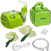 Preisvergleich für Omnibus BR-CN116B Inhaliergerät Inhalator Aerosol Therapie Vernebler Inhalation Kompressor (Grün - mit Grüne Tasche)