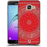 Head Case Designs Autour Rouge Bandana Cachemire Classique Étui Coque en Gel molle pour Samsung Galaxy A3 (2016)
