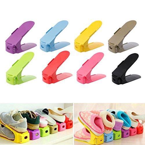logres 8Home Verstellbare Schuhe Sockel Space Saver Rack Double Layer Schuhe Hängeverpackung...