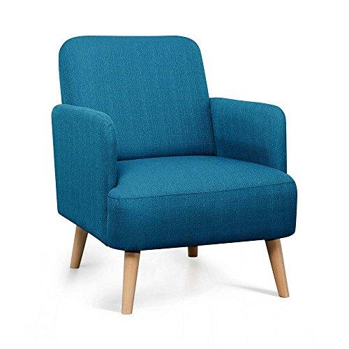 fauteuil-retro-design-tissu-et-pieds-bois-clair-brooks-couleur-bleu