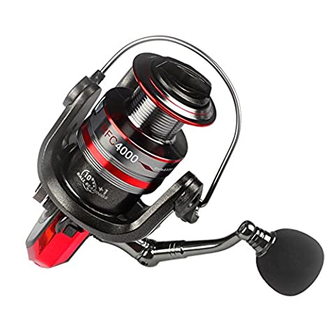 Amazmall Ball Bearings Type Fishing Reels 5.2:1 Gear Ratio Hand Interchangeable Spinning Reel