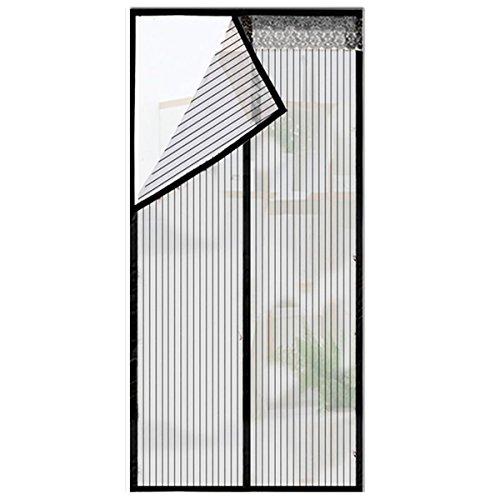 QF Magnetische Bildschirmtür,Mesh-vorhänge Für Fenstertüren,Schiebetüren,Garage,Angelboot/fischerboot,Super Quiet,Hände Frei-Lassen Sie Frische Luft in-Schwarz 95x210cm(37x83inch) - Terrasse Küche Vorhänge