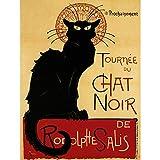 Wee Blue Coo Chat Noir Rodolphe SALIS Paris France Vintage Poster Art Print 12x16 inch 915PY