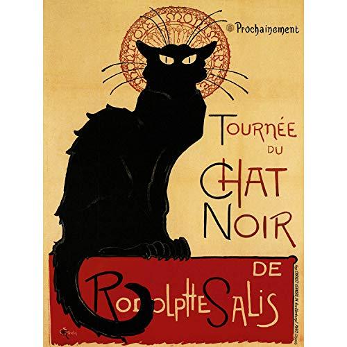 CHAT NOIR RODOLPHE SALIS PARIS FRANCE VINTAGE POSTER ART PRINT 12x16 inch 915PY