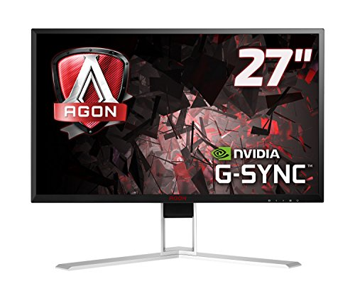"AOC AGON AG271QG Monitor Gaming da 27"" IPS, QHD, 2560 x 144, 165 Hz, 4 msec, Speaker, DP, HDMI, 4 Porte USB, G-Sync, Nero"