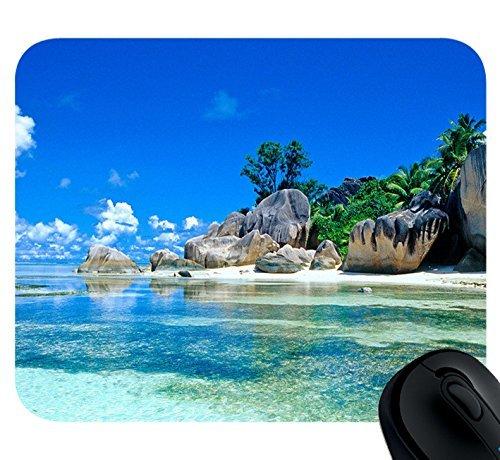 Beaches France Seychelles Mousepad,Custom Rectangular Mouse Pad Seychelles Natural