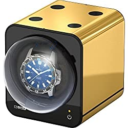 Watch winder Boxy Fancy Brick Gold