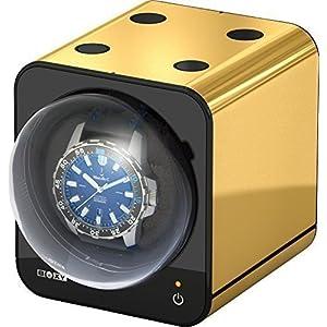 Boxy Fancy Brick Uhrenbeweger – Farbe GOLD – von BECO Technic – MODULARES SYSTEM – Power Sharing Technologie – Programmierbar – Qualitativ hochwertig – Ohne Netzadapter