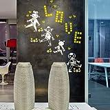 HCCY Der Roboter Wall-Kindergarten kreativ dekorative Kunst Kultur passen eng an der Wand Schule 122 * 58 cm, weiss+zitrone gelb